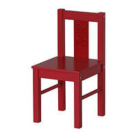 КРИТТЕР Детский стул, красный