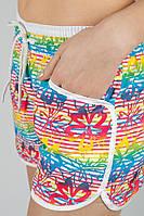 Шорты женские плятжные, короткие 448H001 (Цветная полоска)
