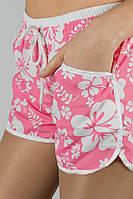 Шорты женские плятжные, короткие 448H001 (Розово-белый)