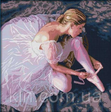 Вышивка крестиком Утонченная балерина 54х54 см (арт. MK056) канва СТ14