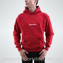 Кенгурушка Supreme с Вышивкой | Красная толстовка Supreme, фото 3