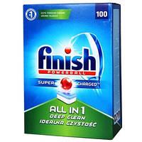 Finish Все-в-1 таблетки для посудомоечных машин, 100 шт.