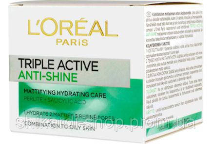 L'Oreal Triple Active матирующий крем для комбинир. и жирн. кожи, 50 мл, фото 2