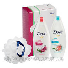 Dove Bliss Booster гель для душа 250 мл x2 + мочалка