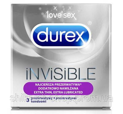 Durex Invisible презервативы экстра-тонкие, 3 шт., фото 2