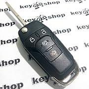 Корпус выкидного автоключа для Ford (Форд) 3+1 - кнопки, лезвие HU101 (б\у)