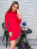 Красивое мини платье красного цвета