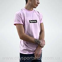 Футболка с принтом Supreme. Футболка розовая Унисекс | Качественная реплика, фото 2
