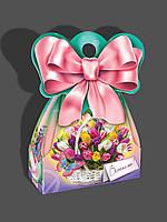 Подарочная коробка для конфет, Букет тюльпанов, 500 грамм