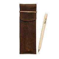 Чехол для ручек 1.0 Орех +эко-ручка и карандаш