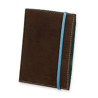 Кожаная обложка для паспорта 1.0 Орех-тиффани +блокнотик
