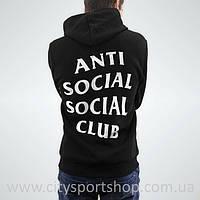Толстовка A.S.S.C. Худи Anti Social Social Club   Черная + бирки (Размер XXL)