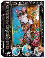 Алмазная живопись мозаика по номерам на холсте 30*40см DankoToys DT DM-01-04 Кот