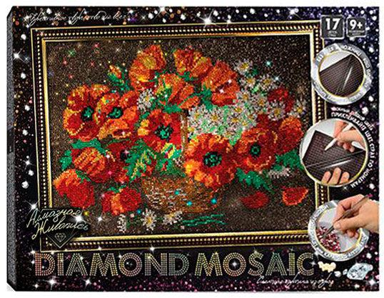 Алмазная живопись мозаика по номерам на холсте 30*40см DankoToys DT DM-01-06 Маки
