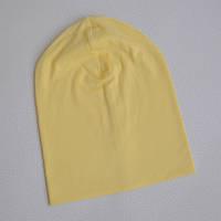 Детская шапка бини. Бледно-желтый. Размеры: 48-50, 50-52,52-54, 54-56 см