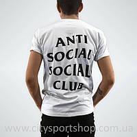 Футболка мужская Anti Social social club Белая A.S.S.C.   Качественная реплика