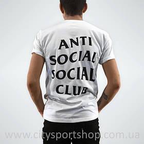 Футболка мужская Anti Social social club Белая A.S.S.C.