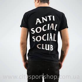 Футболка с принтом A.S.S.C. Anti Social social club мужская (черная)