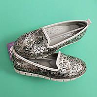 Детские туфли балетки для девочки цветочный принт Tom.m размер 32,33,34,35,36,37