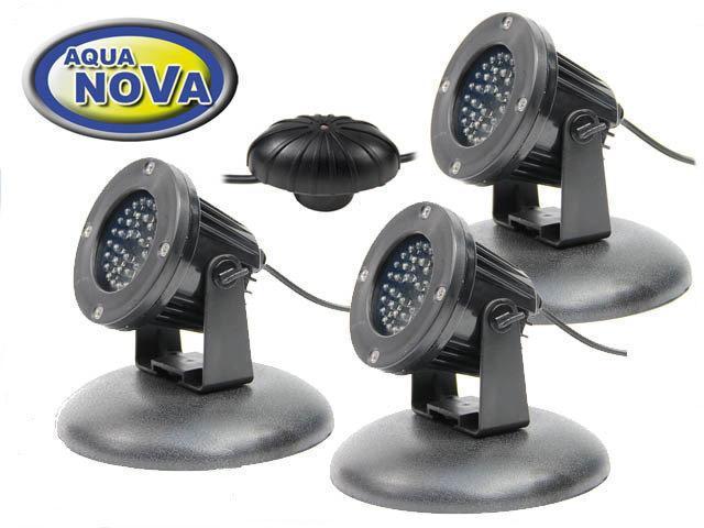 AquaNova NPL2-LED3 подводный светильник для пруда фонтана водопада в (к-те датчик день/ночь)