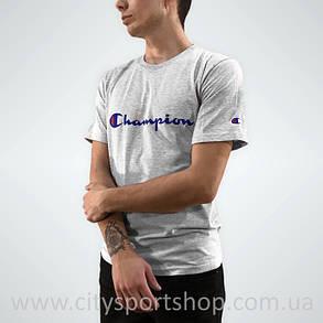 Champion Футболка мужская • Бирка оригинальная •  Серая | Качественная реплика, фото 2