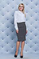 Костюм женский блуза+юбка карандаш белый