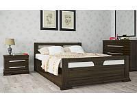 Кровать деревянная Модерн с подъемным механизмом из массива дуба двуспальная