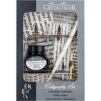 Набор для каллиграфии Cretacolor 7 предметов (5 пер, держатель и тушь) 43120