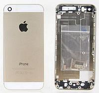 Корпус Apple iPhone 5 имитация 5S золотой