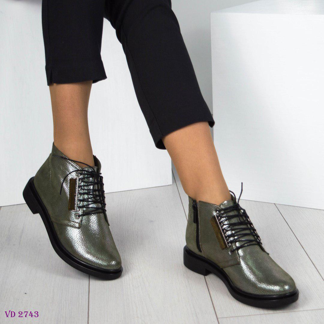 88af7544a687 Ботинки женские на шнуровке оливкого цвета  продажа, цена в ...