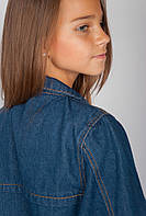 Куртка женская с карманами 406K003 junior (Темно-синий)