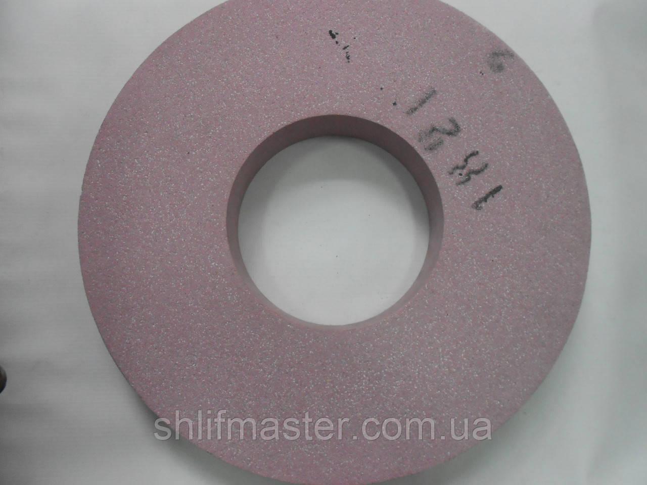 Круг абразивный шлифовальный 91А ПП 350х32х127 40 М3 прямого профиля розовый