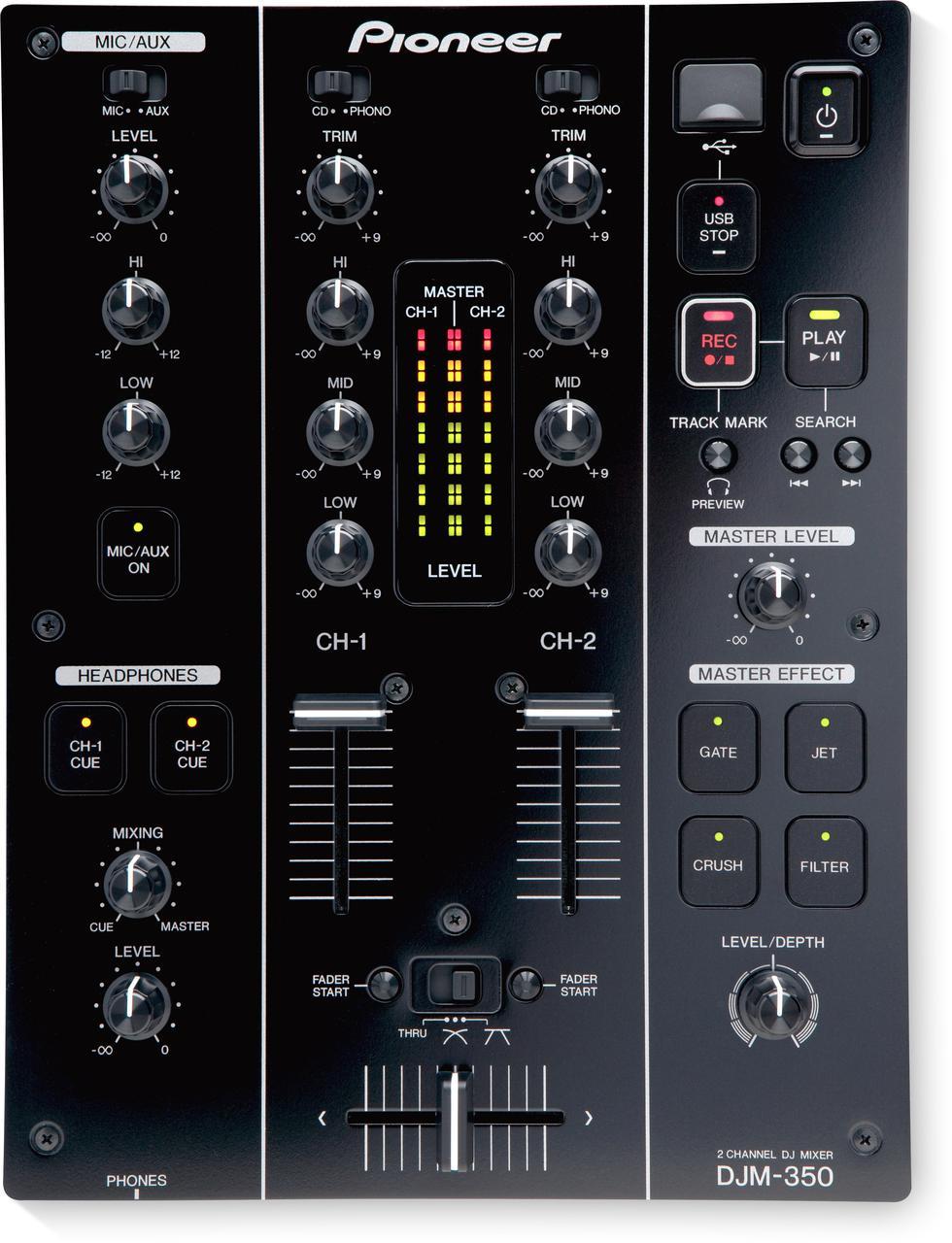 2-канальный микшер с эффектами Pioneer DJM 350