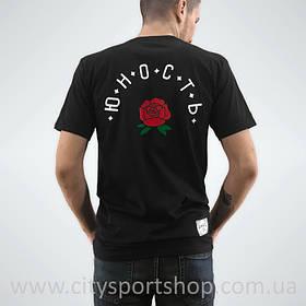 Футболка Юность с принтом Розы Черная