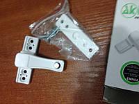 Противовзломный замок для металлопластиковых окон и дверей с кнопкой. белый