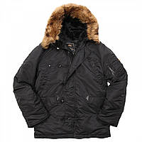 Аляска n-3b alpha   Куртка N3B Parka Black Alpha Industries 2e065979fe0e9