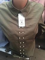 Блуза молодежная стильная декорированная  жемчужинами