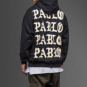 Худи с принтом I Feel Like Pablo белый принт (Размер S)