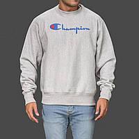 Champion свитшот серый • Бирки (Размер S)