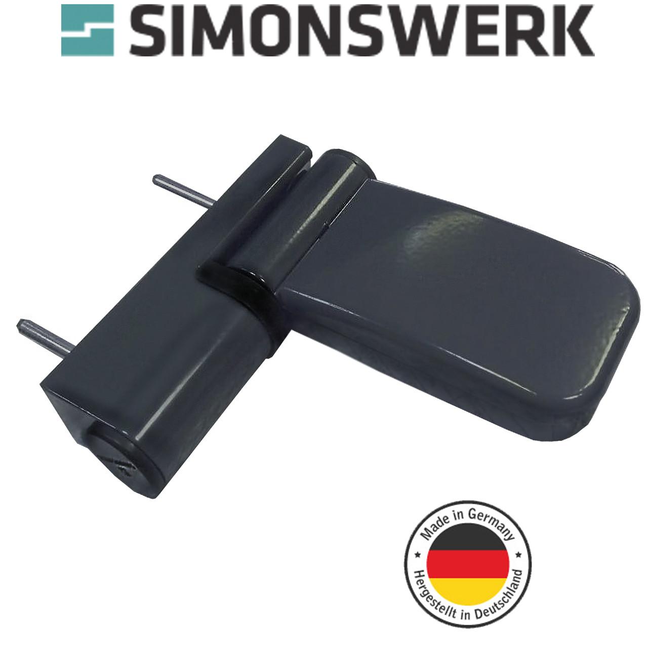 Петля дверная Simonswerk Siku 3135 антрацит RaL7016 (Германия)