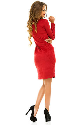Платье 223 замшевое бордо, фото 2