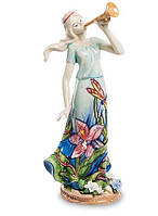 "Фарфоровая cтатуэтка девушка ""Волшебная труба"" (Pavone) JP-37/ 8"