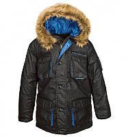 Аляска n-3b alpha / Куртка Glacier Parka Black/Pacific Blue Alpha Industries