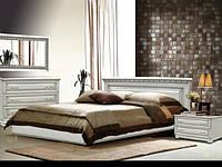 Кровать деревянная Элит из массива дуба двуспальная, фото 1