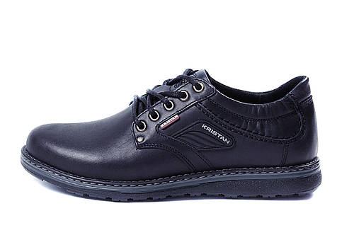 Мужские кожаные туфли Kristan black 40