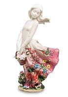 "Фарфоровая cтатуэтка девушка ""Поцелуй ветра"" (Pavone) JP-12/22"