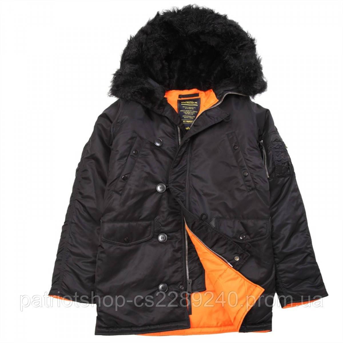 dc63f07e Куртка аляска slim fit parka alpha industries / Куртка Slim Fit N-3B Black\