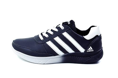 Мужские кожаные кроссовки Anser Adidas Flex fit black