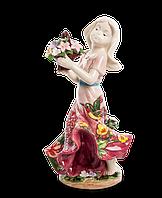 Фарфоровая cтатуэтка Девушка с цветами (Pavone) JP-12/19