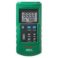 Термометр Mastech MS6513 (-200~1372℃) с термопарой К-типа и совместимостью с термопарами J,T,E,R,S,N типов, ПО